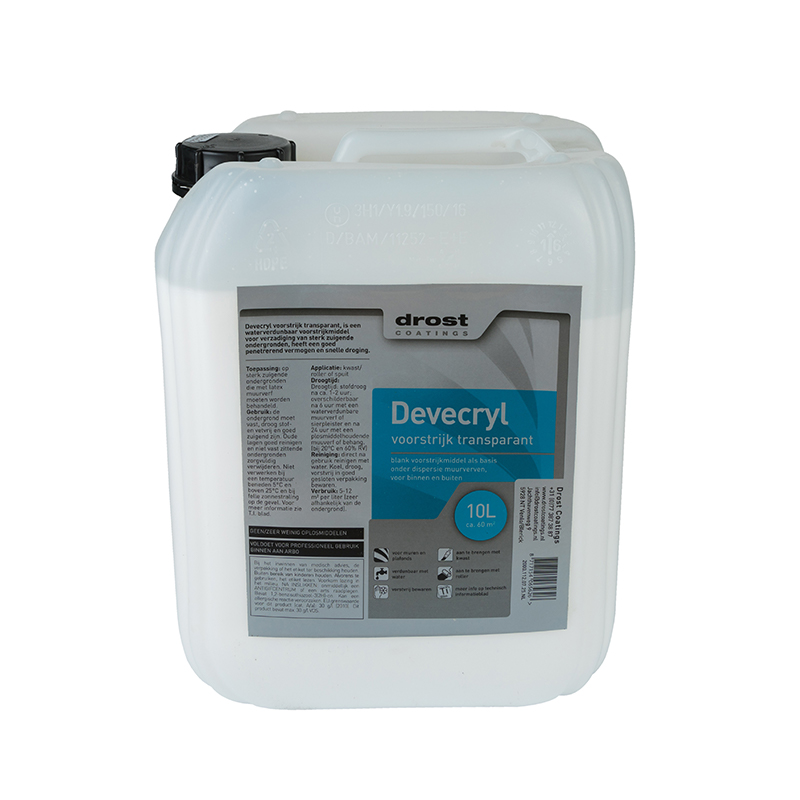 Drost Coatings | Product | Devecryl Voorstrijk Transparant (2000)